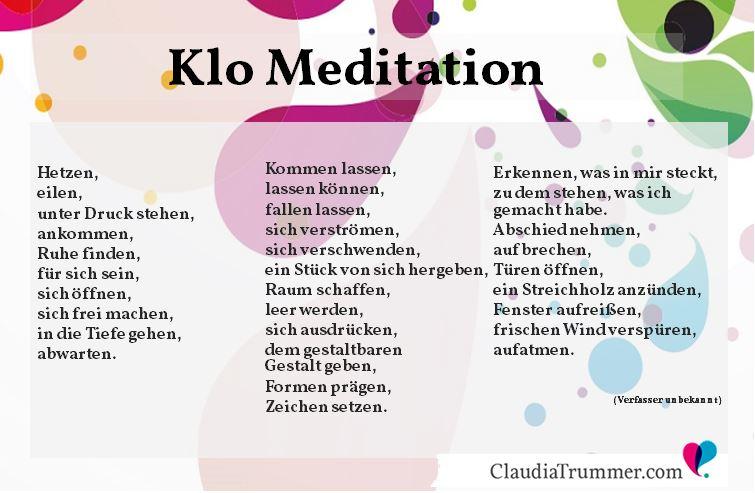Klo-Meditation Bild