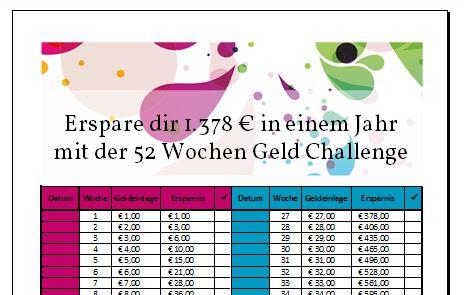 Geld Challenge Bildschirmansicht