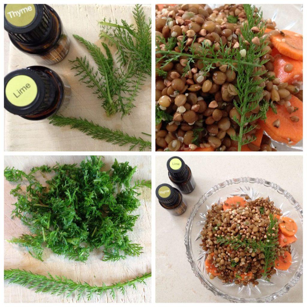 Linsensalat Karotten Schafgarbe Aromaöl Lime Thyme doterra Claudia Trummer
