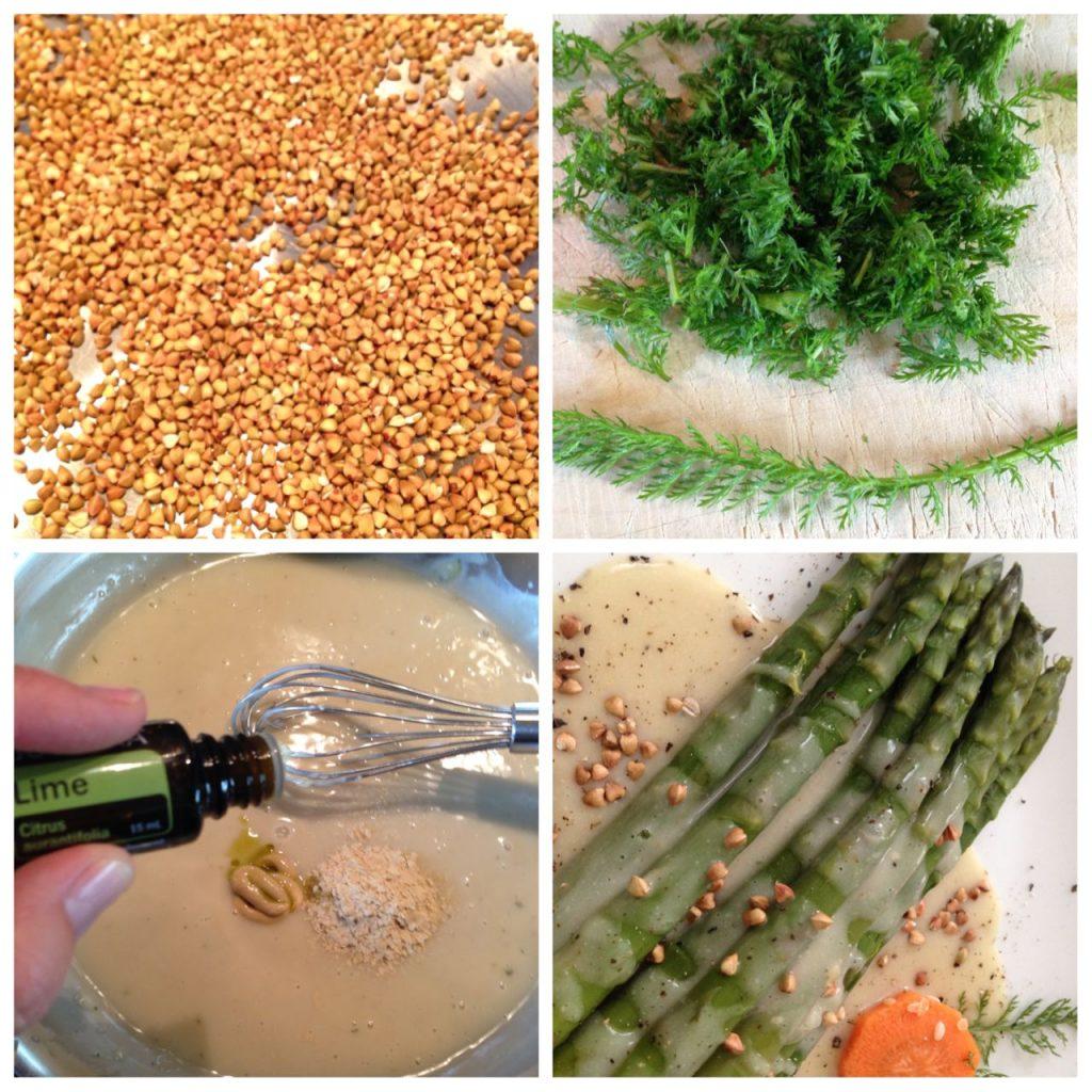 Spargel mit veganer Sauce und Lime Aromaöl von doterra Claudia Trummer