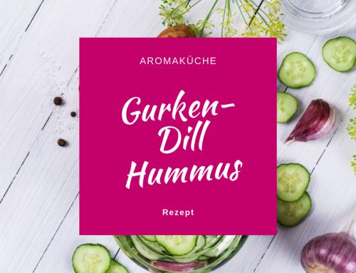 Gurken Dill Hummus mit ätherischen Ölen
